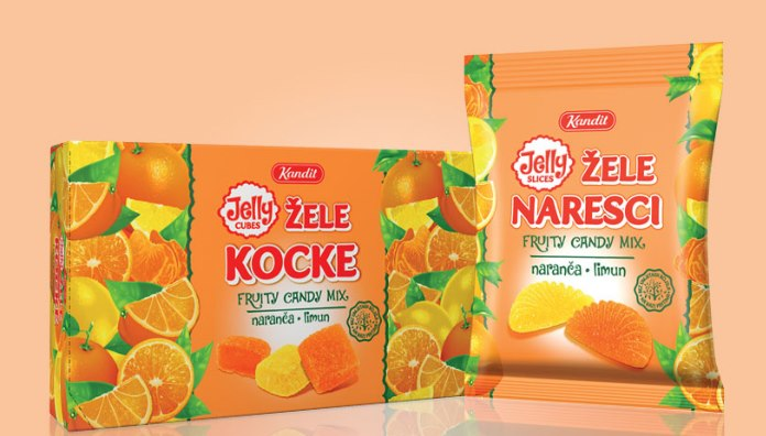 New design of Kandit jelly slices and cubes